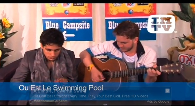 Ou Est Le Swimming Pool Meets Imtv Irish Music Television